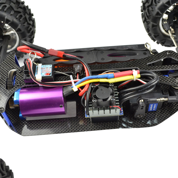 VRX RH1013PR 1/10 Scale 4WD Electric Brushless Monster Turck 2.4G High Speed RC Car with 60A ESC and 3650 Motor - RTR Version - enginediy