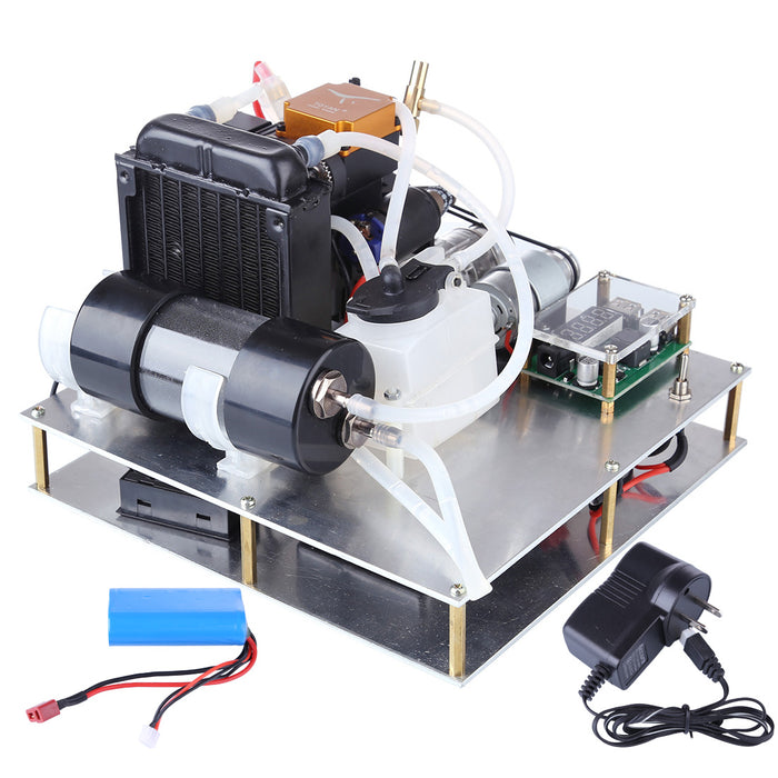 TOYAN Gasoline Engine Model DIY Micro Water-cooled Generator Set (with Water Pump / Radiator Water Tank / Thermometer) - enginediy