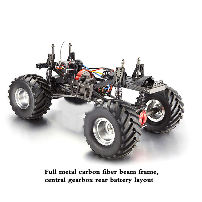 1/10 4WD RC Electric Car Monster Truck Simulation Straight Bridge Big Foot Vehicle- TFL C1610