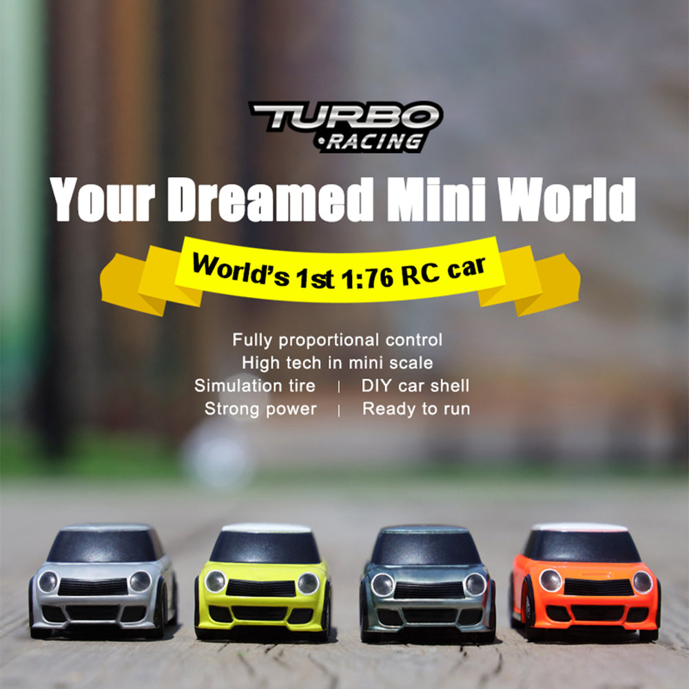 TURBO Racing 2.4Ghz 1:76 Full Scale Electric RC Car with P31 Remote Controller Desktop Toy