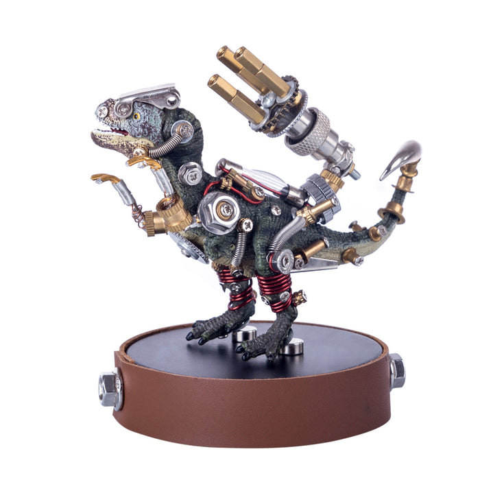 3D Metal Model Kit Mechanical Dinosaur DIY Games Assembly Puzzle Jigsaw Creative Gift - 136Pcs - enginediy