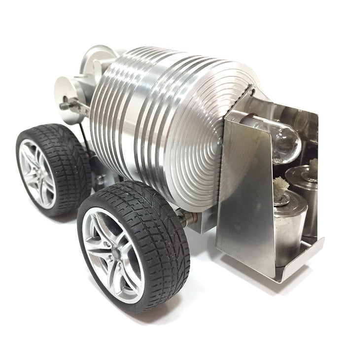 enginediy Engine Models Metal Wheel Car Stirling Engine Car Model DIY Stirling Engine Vehicle Kit Toy Enginediy