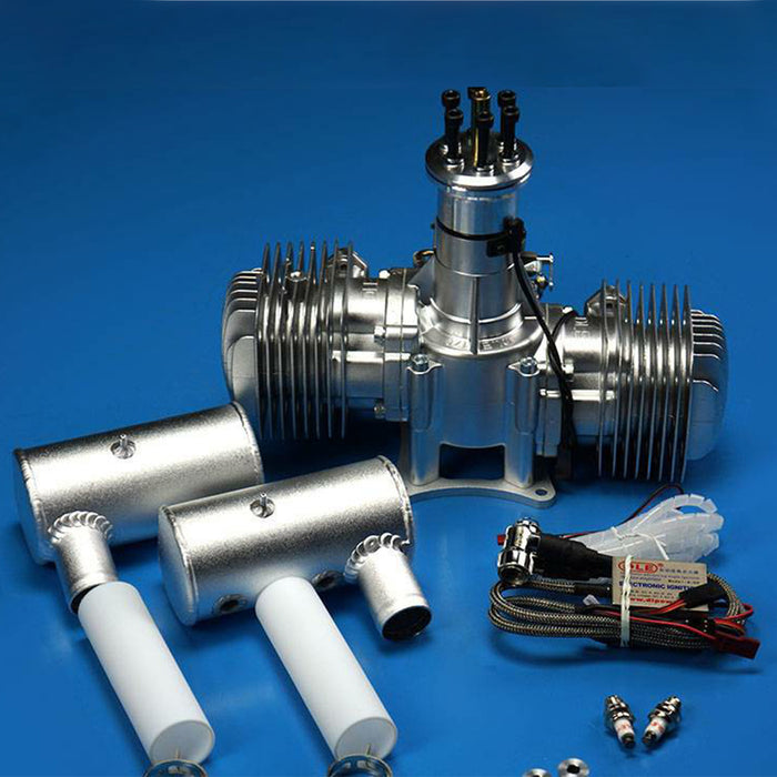 DLE170 170CC Two Cylinders 2-stroke Side Exhaust Air Cooled Gasoline Engine for RC Airplane Model