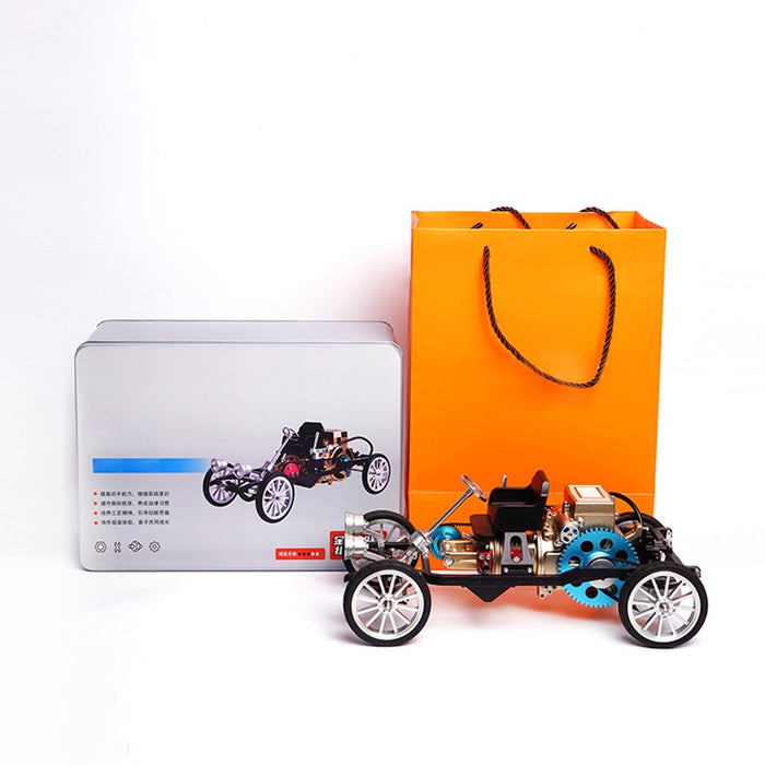 enginediy DIY Engine Car Engine Build Model Single-cylinder Steam Car Unassembled Engine Gift for Collection - Enginediy