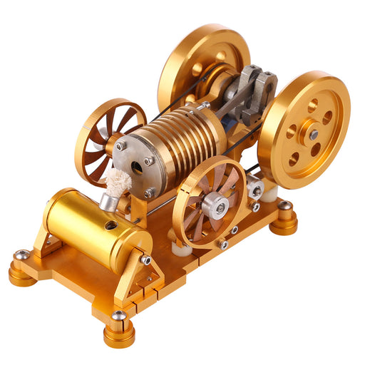 Vacuum Stirling Engine Model with Brass Cylinder Piston Flame Eater Licker - enginediy