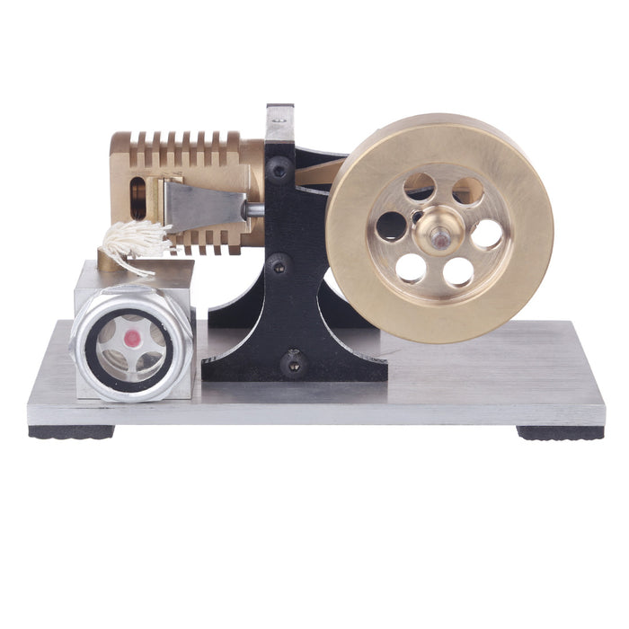 Single Cylinder Stirling Engine Model | Suction Fire Type Bracket Version - enginediy
