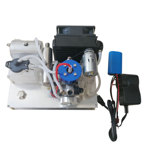 TOYAN Level 15 Modify Methanol Engine to Gasoline Engine Model DIY Micro 12V Generator Set with Water-cooled Radiator Device