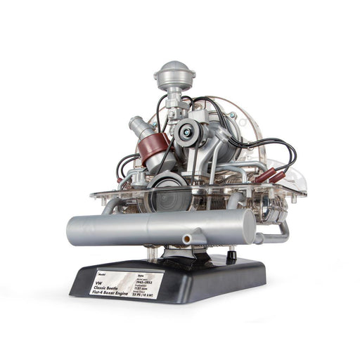 Franzis VW Flat-Four Engine Model Kit - Build Your Own 4 Cylinder Engine That Works - Volkswagen Beetle DIY Assembly Kit