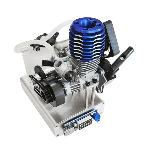 Level 15 12V 2 Stroke Methanol Nitro Engine Generator Model with Cooling Fan (5V 1.5A USB Charging)