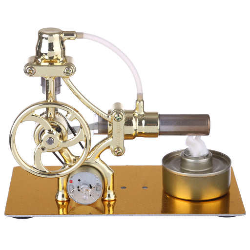 L-Type Single-cylinder Stirling Engine Generator Model with LED Diode Science Experiment Teaching Model Toy Collection - enginediy