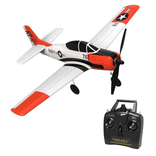 VOLANTEXRC T-28 Trojan 400mm Wingspan Airplane 2.4G RC 4CH Airplane Fixed Wing Aircraft with Xpilot Gyro System for Beginner - RTF - enginediy