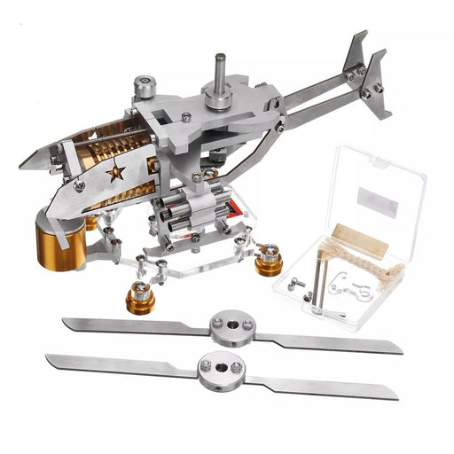 Stirling Engine Kit Helicopter Design Vacuum Engine Model Gift Collection - enginediy