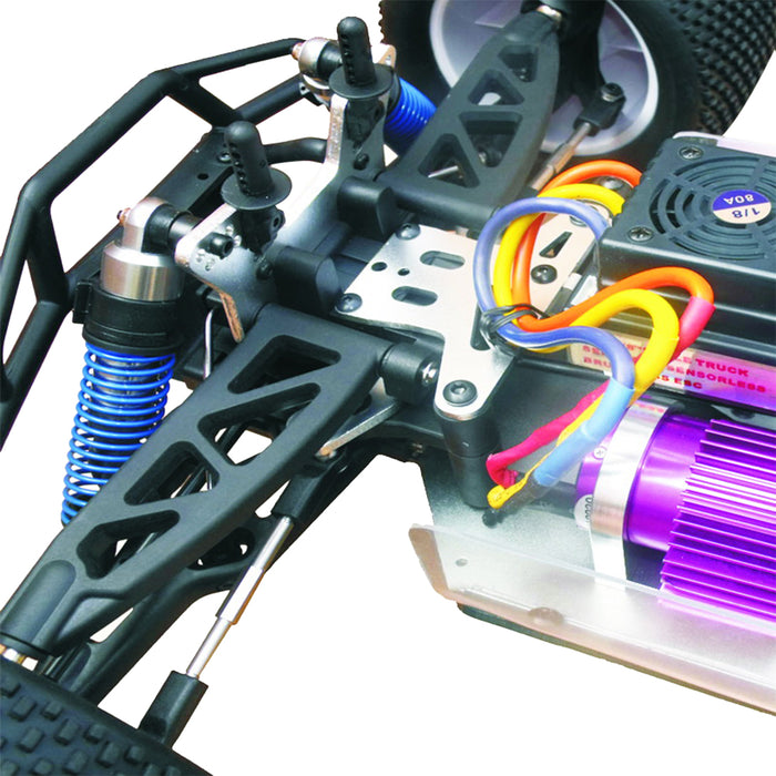 VRX RH811 1/8 Scale 4WD Brushless Off-road Monster Truck High Speed 2.4G RC Car with 120A ESC and 3674 Motor - R0021 RTR Version