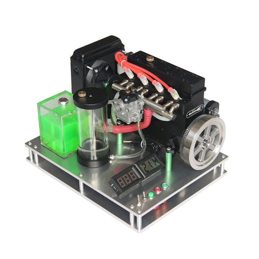 Metal Fixed Base with Water Cooled Parts for 32CC Inline Four-cylinder Water-cooled Gasoline Engine (SKU: 33ED3030434, 333085161ED, 33ED3104107) - enginediy
