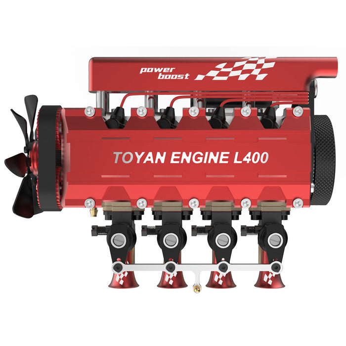 TOYAN FS-L400 14cc Inline 4 Cylinder Four-stroke Water-cooled Nitro Engine Model for 1:8 1:10 RC Car Ship Airplane (Kit Version) - Enginediy [Presale] - enginediy