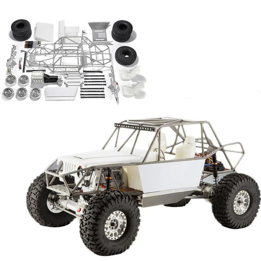 TFL Unicorn C1805 1/10 4WD Full Metal RC Crawler Car with Front Double Speed Gear - No Painting KIT Version - enginediy