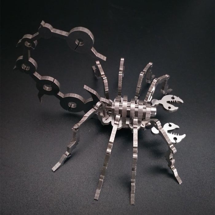3D Metal Puzzle Scorpion Model Kit DIY Games Assembly Jigsaw Creative Gift - enginediy