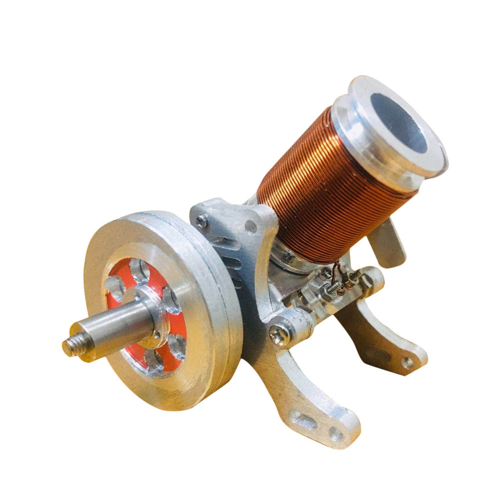 Single-cylinder Electromagnetic Engine Model | 6-12V 2A All-metal Engine Model - enginediy