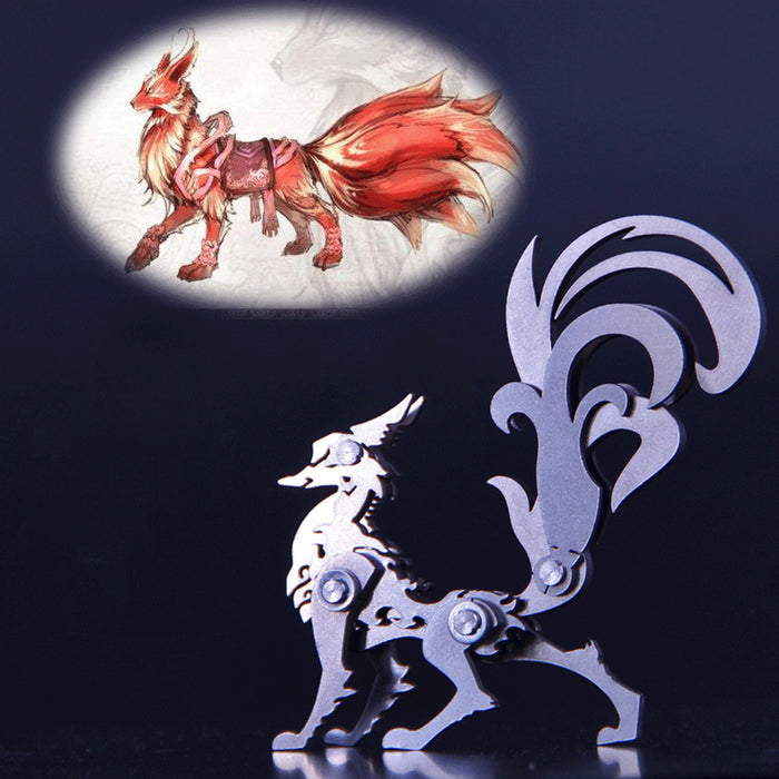 3D Puzzle DIY Model Kit Detachable Jigsaw Nine-tailed Fox Metal Games