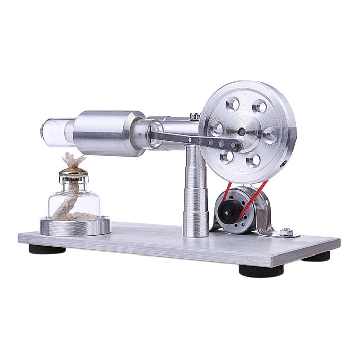 enginediy Stirling Engine with LED Stirling Engine Electricity Generator with Colorful LED Stirling Engine Motor Model Educational Toy - Enginediy