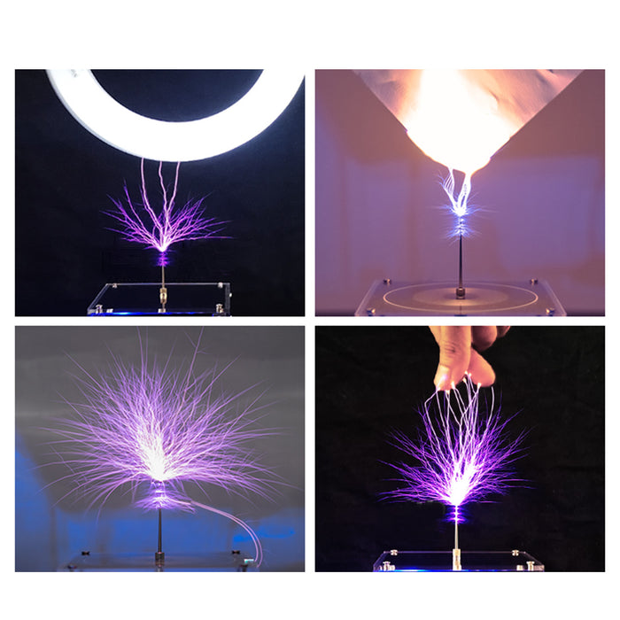 Bluetooth Musical Tesla Coil Plasma Speaker with Long Arc and Bluetooth Music Dual Mode Vinyl Record Shaped - enginediy