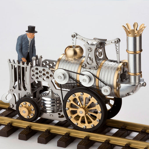 Stirling Engine DIY Assembly Kit Linkage Device Runnable Steam Train Model Metal Mechanical Crafts Gift Collection - enginediy