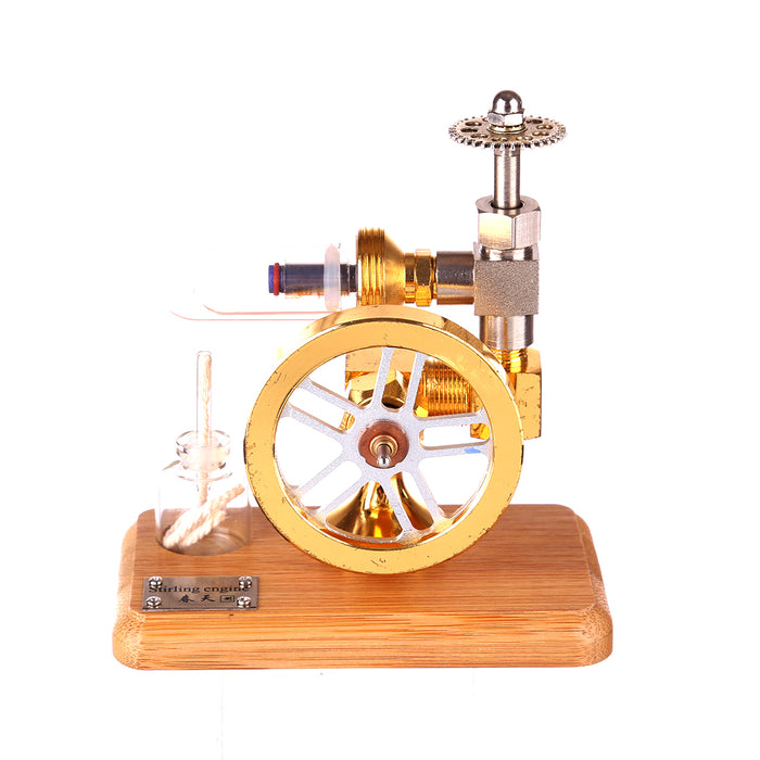 Free Piston Stirling Engine Motor Model Speed Adjustable Stem Toy Gift for Children Adults