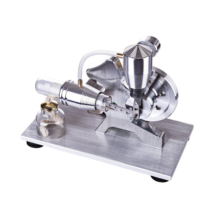 enginediy Stirling Engine with LED Stirling Engine Model Squirrel Design Single Cylinder Stirling Engine with Electricity LED Generator