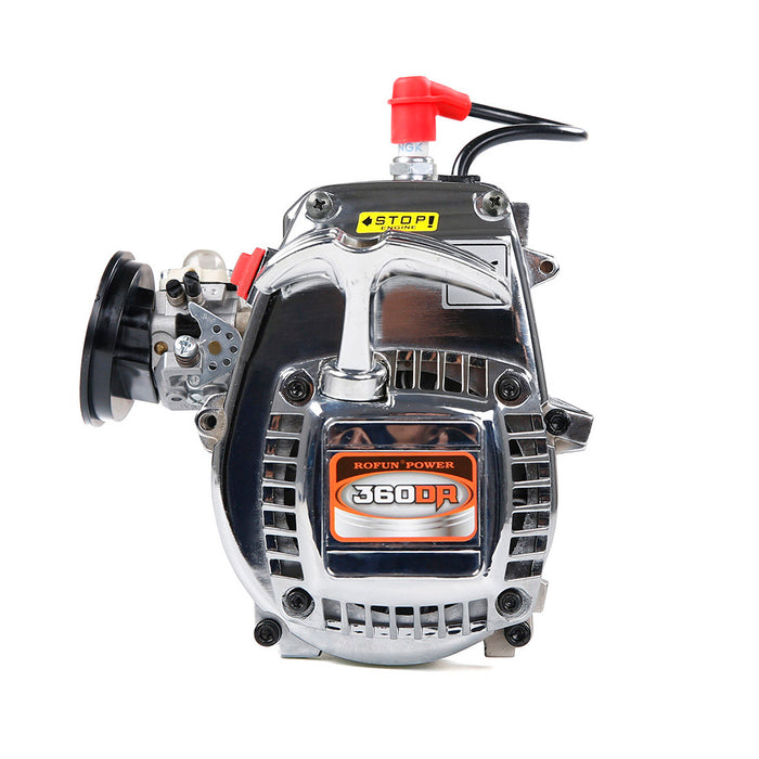36cc Single-cylinder Two-stroke Double-ring Four-point Fixed Easy-start Engine for 1/5 RC Gasoline Model Car - enginediy
