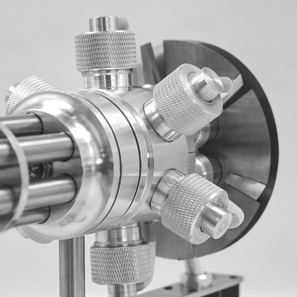 6 Cylinder Stirling Engine Novel Gatling Blaster Design Engine Motor Model - Enginediy - enginediy