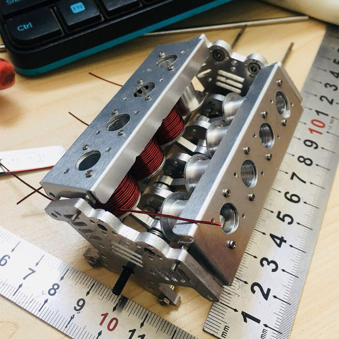 V8 Electromagnetic Engine Model for Model Car / Ship - enginediy