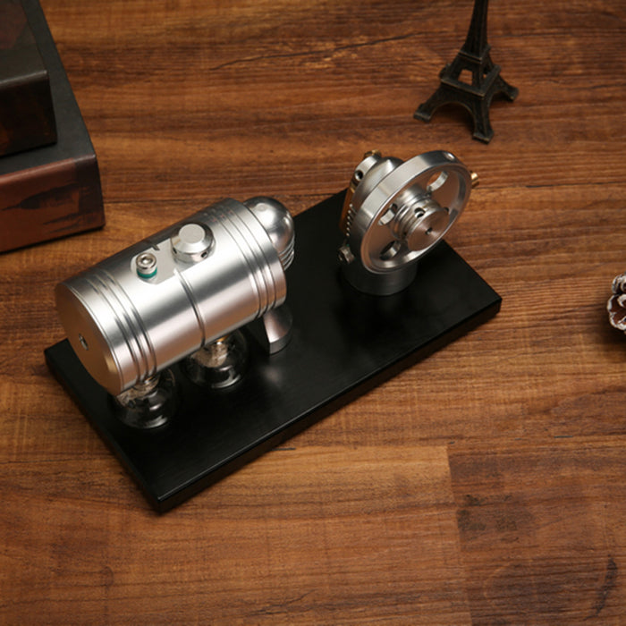 Steam Engine Working Model - Mini Steam Engine Models Starting Up And Running - Full Metal Steam Engine Model with Heating Boiler and Alcohol Lamp - Enginediy - enginediy