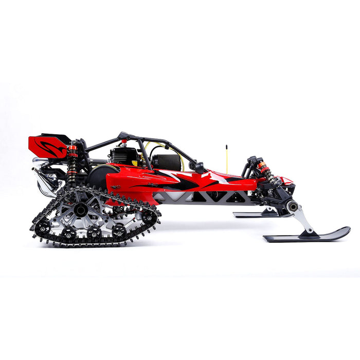 Rovan BAHA305AS Snow 1/5 2WD 2.4G RWD Gasoline Off-road Vehicle RC Model Car with 30.5cc Engine - RTR Version - enginediy