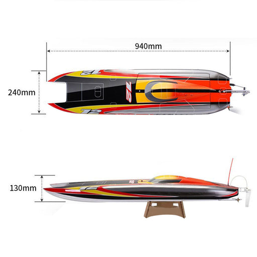 TFL 1122 Electric Brushless Single Motor CAT Catamaran RC Boat Model with 3674/2075KV Brushless Motor and 120A ESC - ARTR Version - enginediy