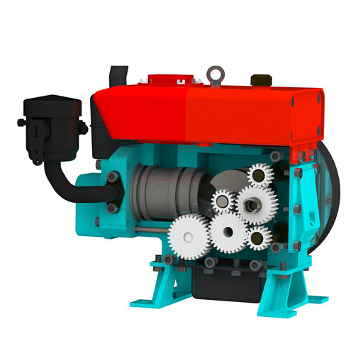 CISON L100 3.5cc Mini Evaporative Cooled Single-cylinder 4-stroke Gasoline Engine Internal Combustion Engine Model - Speed Up to 8000rpm