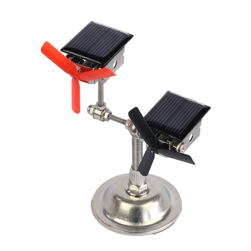 Stark Vehicle-mounted Solar Double Windmill Motor Model Science Motor Model Toy - enginediy