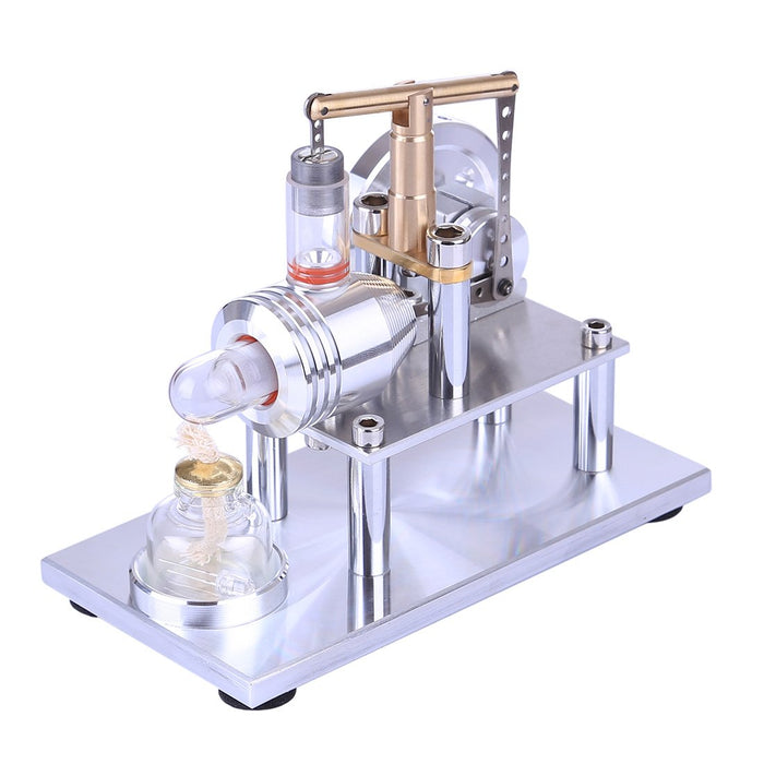 Stirling Engine Model Stainless Steel Balance Stirling Engine Science Experiment Toy - Enginediy