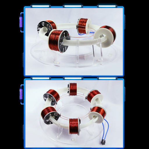 Stark 6 Coils Ring Accelerator Cyclotron High-tech Physics Model - enginediy