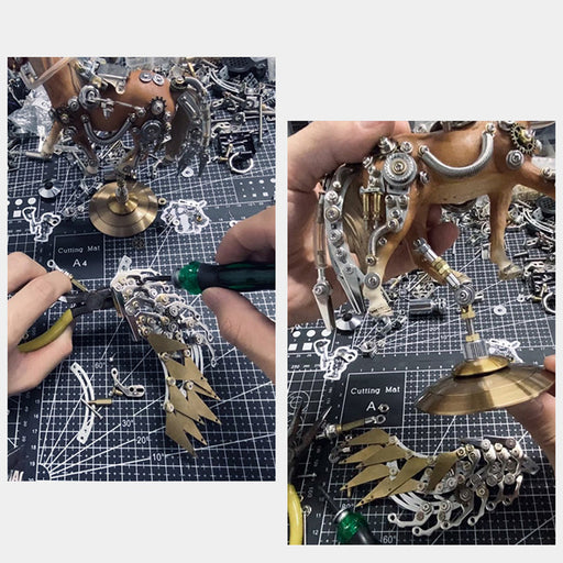 3D Puzzle Model Kit Mechanical Unicorn Metal Games DIY Assembly Jigsaw Crafts Creative Gift - 776Pcs - enginediy