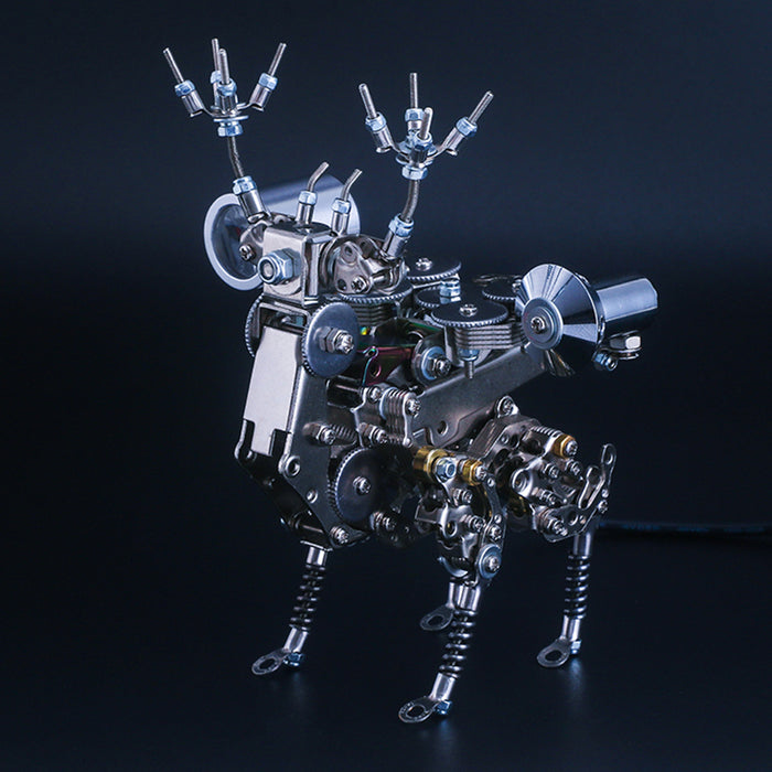 3D Puzzle Model Kit Mechanical Deer Metal Games DIY Assembly Jigsaw Crafts Creative Gift - enginediy