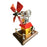 Stirling Engine Model Butane Powered with Windmill Cabin Shape