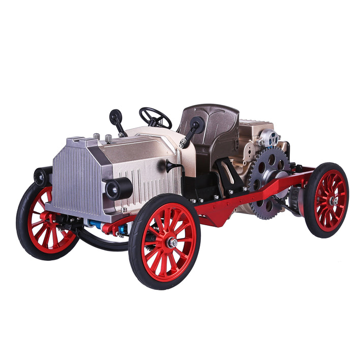 Teching Classic Car Engine Assembly Kit Mini Electric Single-cylinder Engine Metal Mechanical Model High Level Educational Collection - enginediy