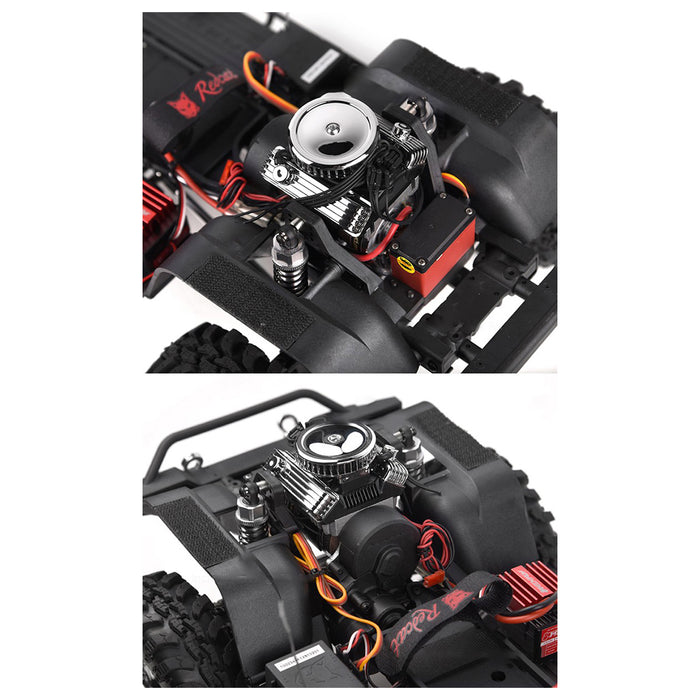 V8 Engine Motor Cooling Fan Kit - GRC RC Car F82 V8 Simulate Engine Motor Cooling Fans Radiator for 1/10 RC Crawler - enginediy
