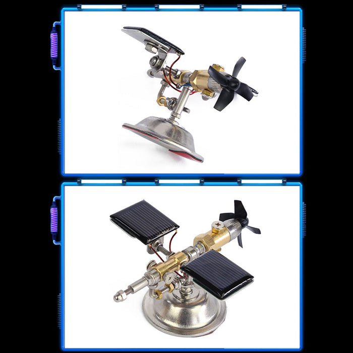 Stark Vehicle-mounted Solar Satellite Motor Solar Toy Scientific Physics Toy - enginediy