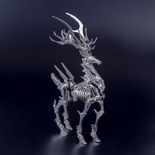 3D Puzzle Model Kit Mechanical Elk Metal Games DIY Assembly Jigsaw Crafts Creative Gift - enginediy
