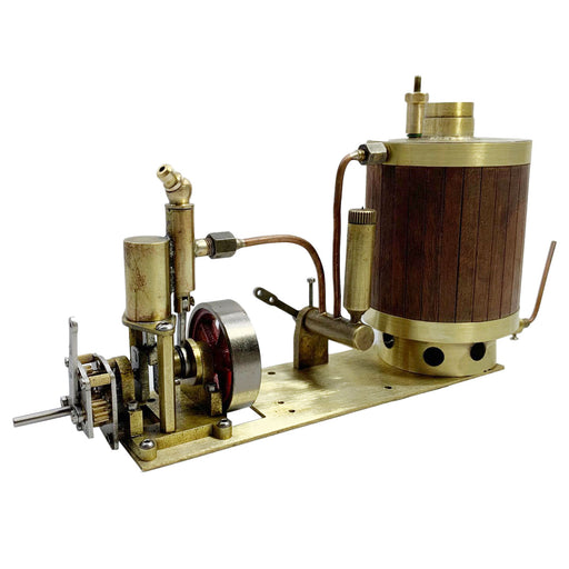 Mini Single-cylinder Steam Engine Set with Gearbox Boiler for Model Ship within 50cm