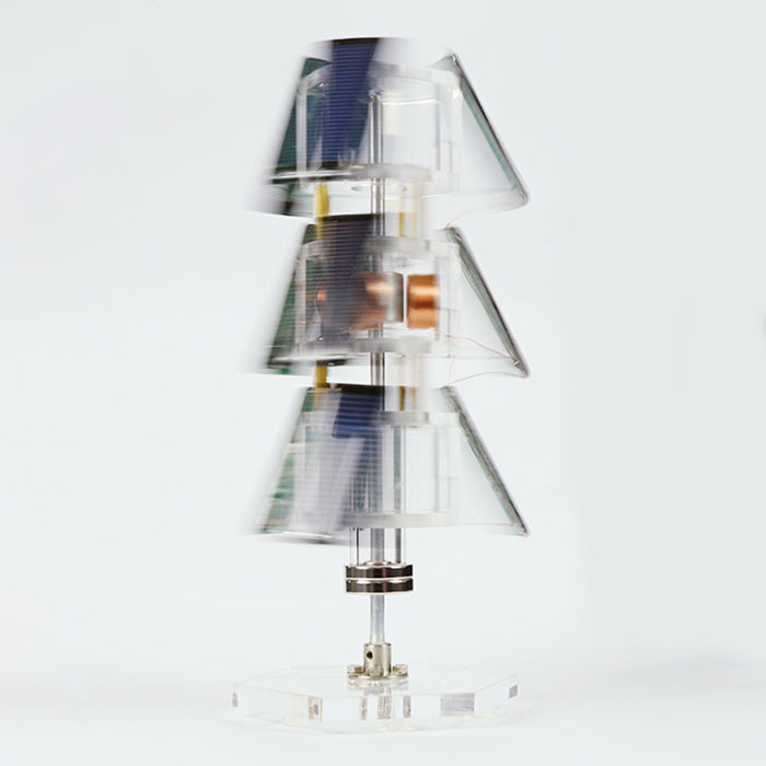 Stark DIY Tree Type Vertical Solar Maglev Motor Science Motor Model - enginediy