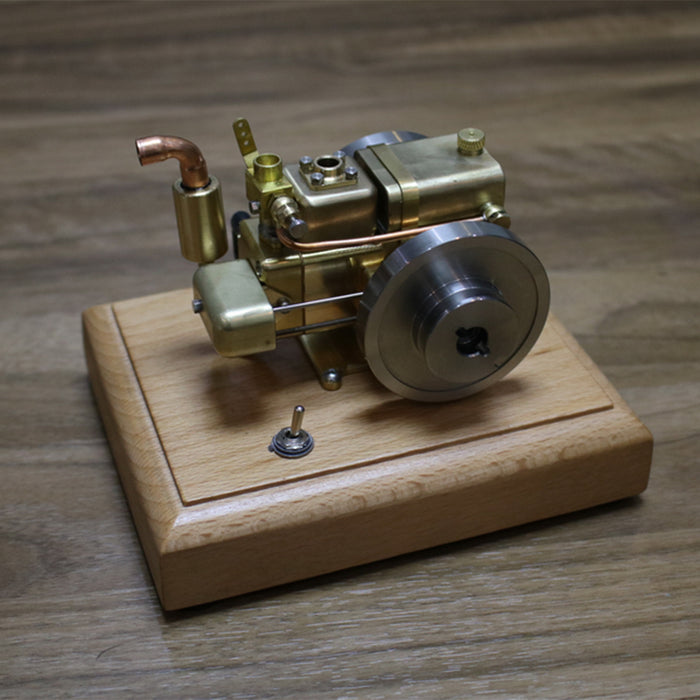 2.6cc Water-cooled Mini Gasoline Engine Model with Wooden Base