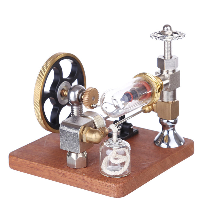 ENGINEDIY Stirling Engine Model with Vertical Flywheel Speed Adjustable | Science Experiment Engine