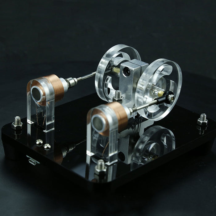 Engine DIY Kit Dual-coil Brushless Motor Hall Electric Machine Physical Experiment Engine Model Toy - enginediy